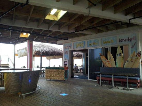 Sand on the Beach : View on entry to restaurant