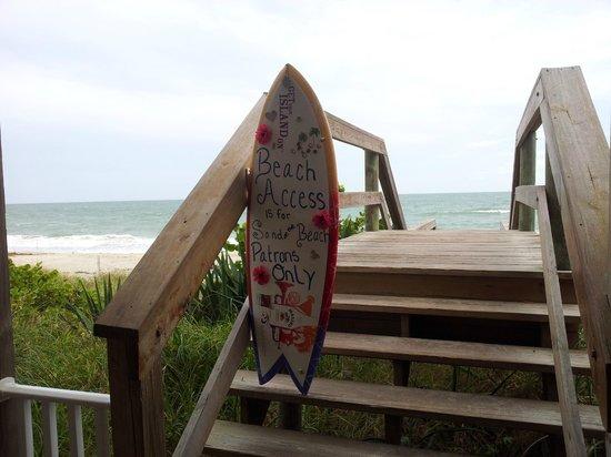 Sand on the Beach : Stairway to beach