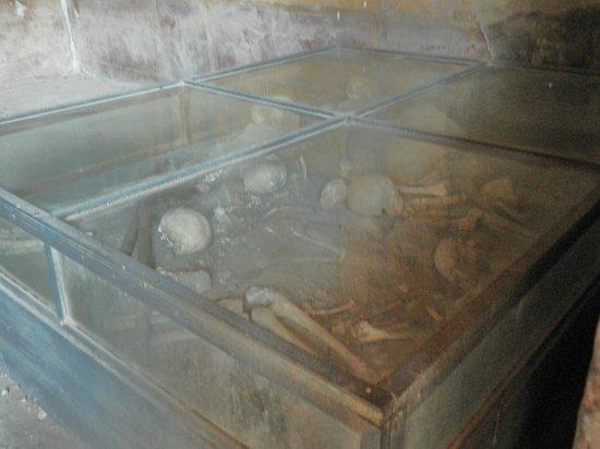 House of Menander (Casa del Menandro): Remains of bones of fugitives