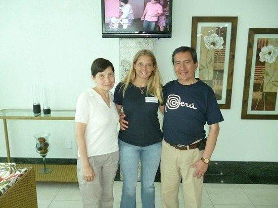 Hotel Pousada Experience Joao Fernandes : Con Lucía en el lobby del hotel