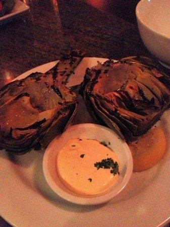 The Artisan at Stonebridge Inn: Roasted artichoke, lemony dijon aioli