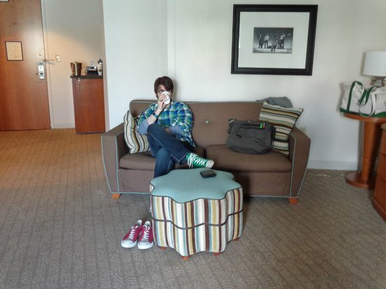 Hard Rock Hotel at Universal Orlando: Queen Deluxe with plenty of room even with sleeper sofa