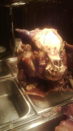 Waterloo Hotel : the hog roast we had at the wedding function. scared the kids