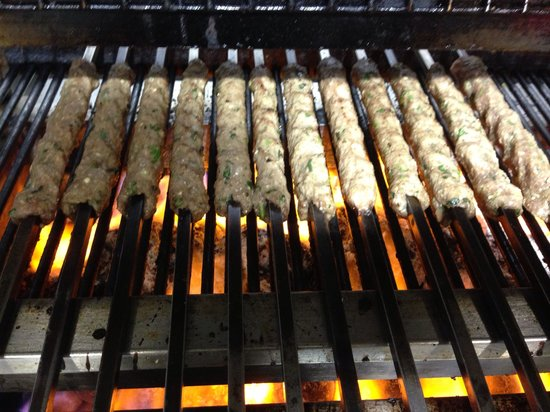 Dar's: Our famous lamb kebabs