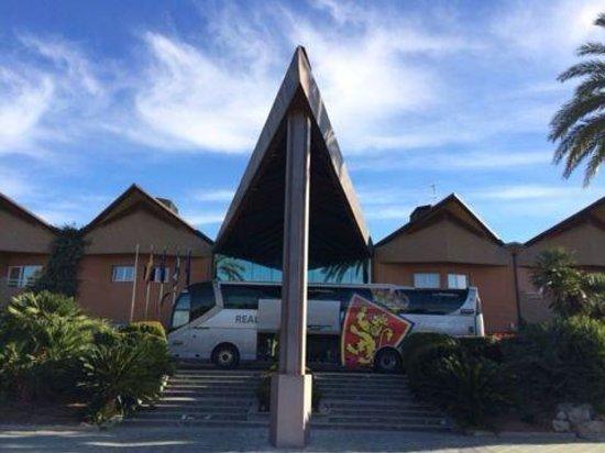 Hotel HO Ciudad de Jaen: Con el Zaragoza en el Hotel HO de Jaén