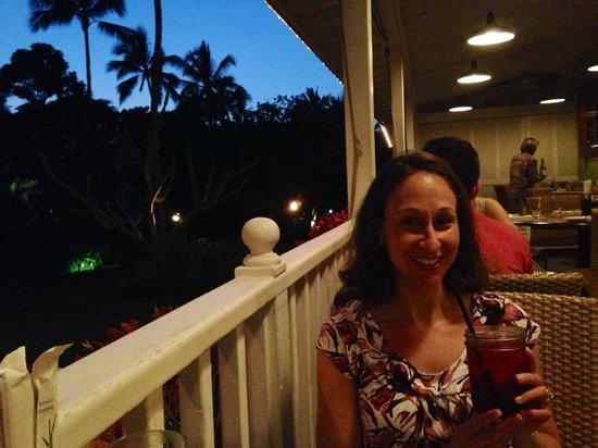 Plantation Gardens Restaurant: Veranda dining at Plantation Gardens