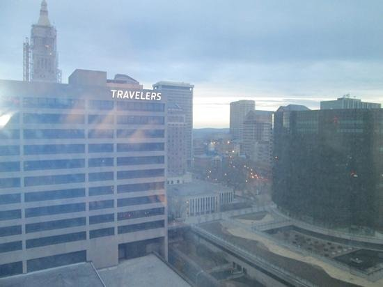 Hartford Marriott Downtown: View from the 19th floor.