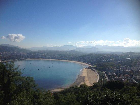 Hotel Leku-Eder: View from Monte Igueldo