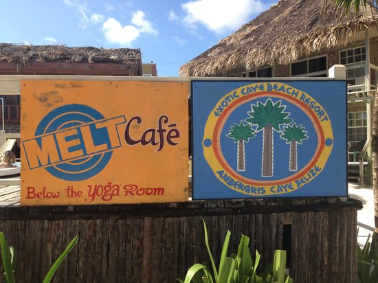 Exotic Caye Beach Resort: The signs