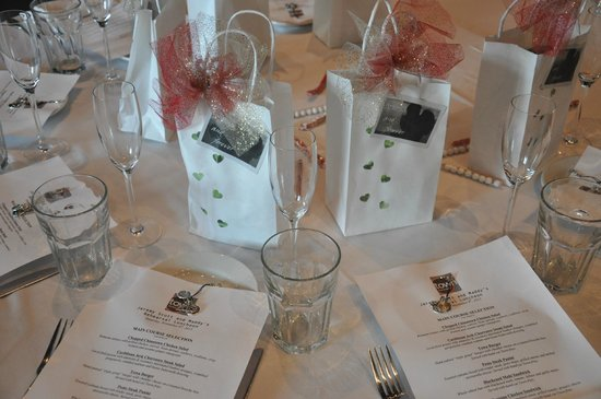 Town Kitchen & Bar : Menus & tables set (I made the goody bags and charms)