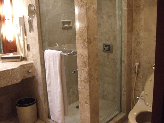 The Sultan Hotel & Residence Jakarta: shower