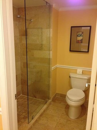 Ocean Key Resort & Spa : toilet with glass door shower were separate