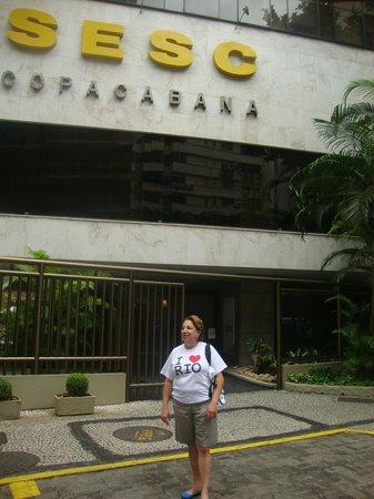 Hotel Sesc Copacabana: Fachada da frente do Sesc Copacabana