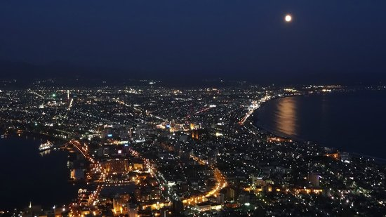 Mount Hakodate: 満月の夜景