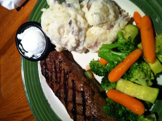 Applebee's: House sirloin and it was wonderful bears Texas Roadhouse and others