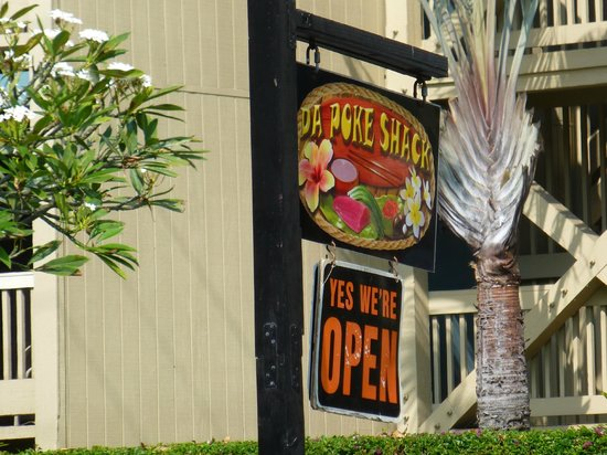 Da Poke Shack: don't miss this tiny sign!