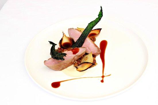 Berardo's Restaurant and Bar: Dutton Park Duck Breast, Parsnip, Agrodolce Farro, Cavolo Nero