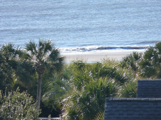 Wild Dunes Resort: Lotta zoom here - but actual picture from a 5th floor balcony of The Village