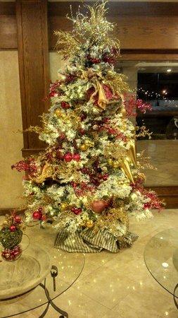 Hotel Fresno Galerias: Lobby navideño