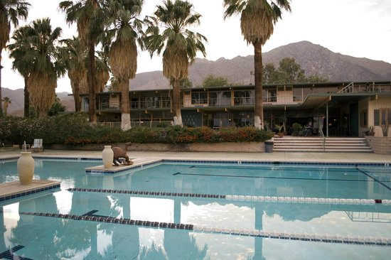 . Red Ocotillo: Pool and restaurant terrace with lodging on second level