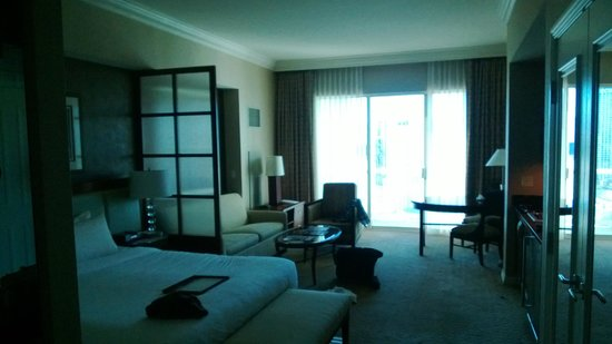 Signature at MGM Grand: Day time view of the room