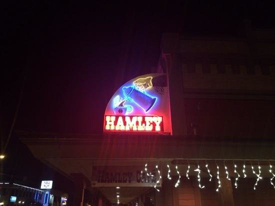 Hamley Steakhouse & Saloon : sign of delicious food in Pendleton.
