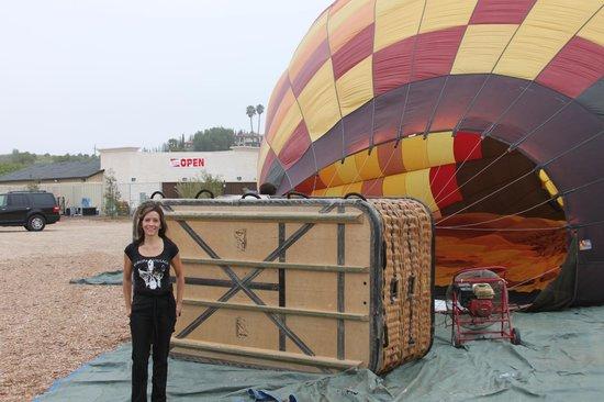 A Grape Escape Balloon Adventure: me next to the balloon