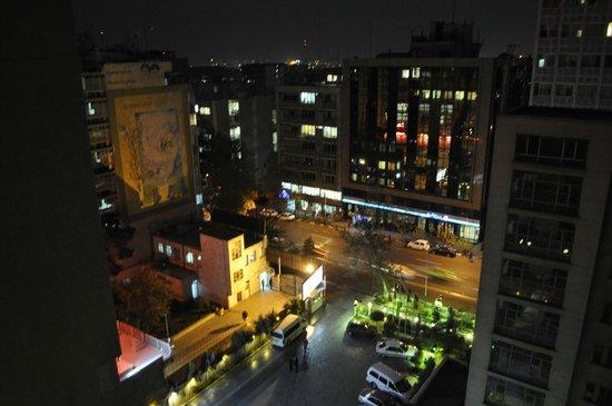 Parsian Enghelab Hotel: Looking southeast