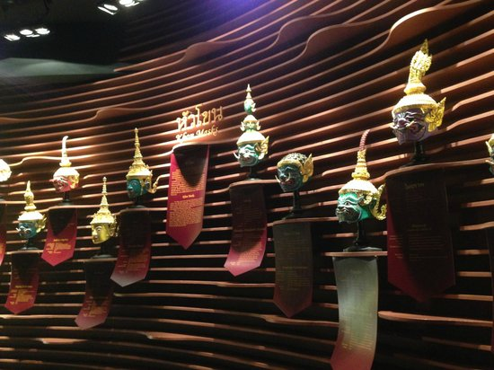 D Art Exhibition In Bangkok : Mask for thai performance picture of rattanakosin