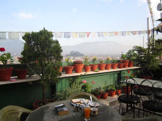 Avalon House: Breakfast on the rooftop terrace