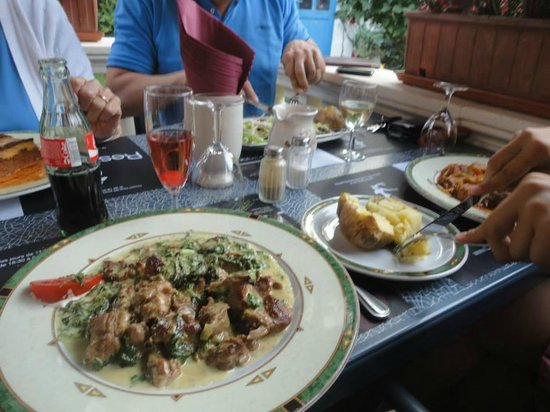 Le Creta: Plats