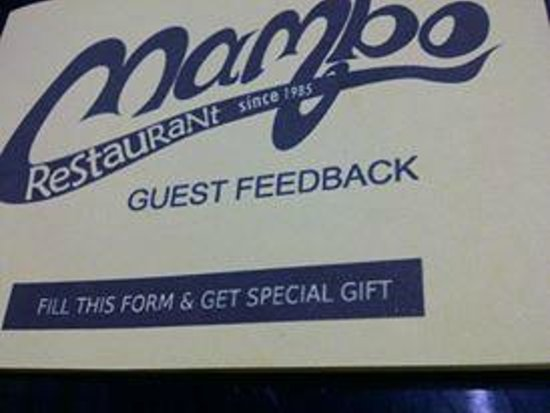 Mambo Restaurant: Guest feedback