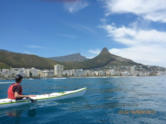 Bike and Saddle: Lions Head and Table Mountain from the sea