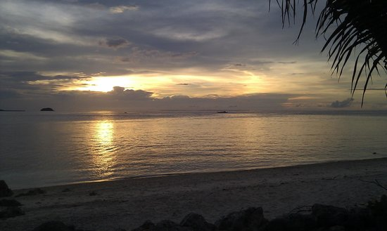 Tepanee Beach Resort: vistas desde la terraza del chiringuito