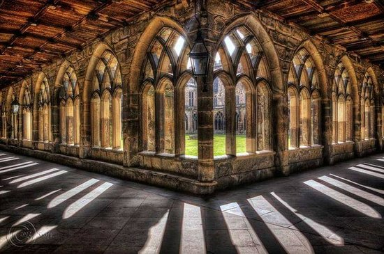 Durham, UK : courtyard inside the Cathedral
