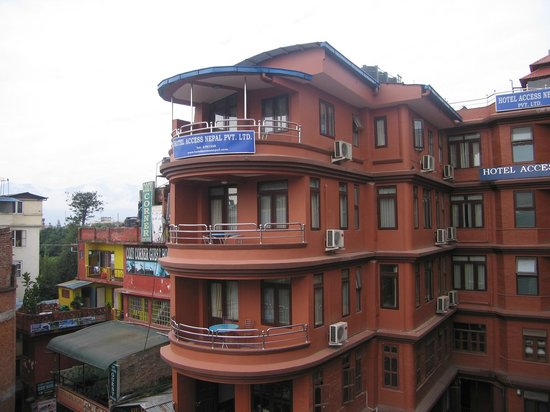Hotel Access Nepal: Our room was on the top floor as shown in the picture with a lovely balcony