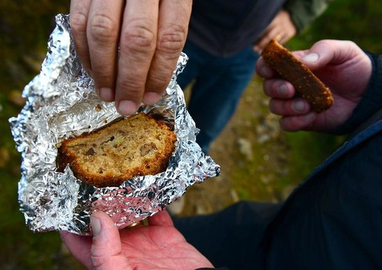 Roseburn: Alyson's Banana & Walnut cake on our hike up Ben-y-Vrackie - yum...