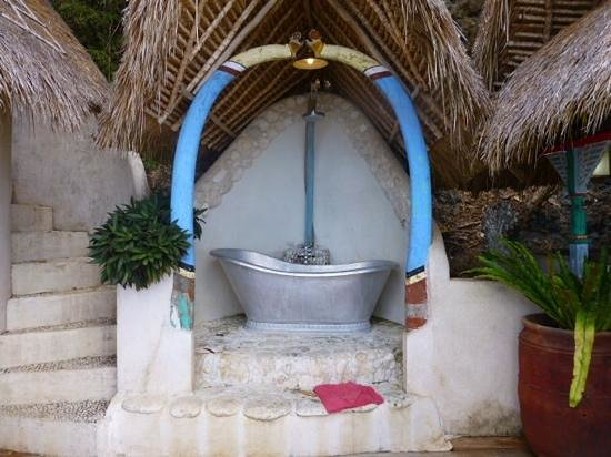 The Temple Lodge: our bath in Eagles Nest room