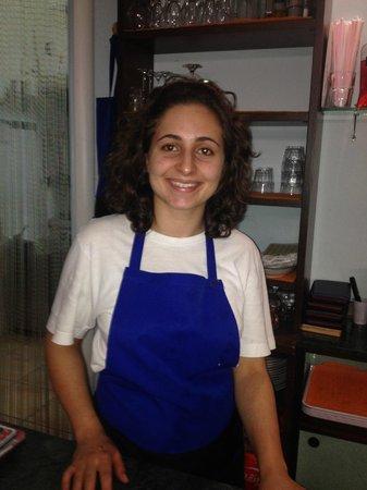 Che Bonta Gastronomia : Luisa die extrem freundlich Tochter und verantwortlich für die Bedienung