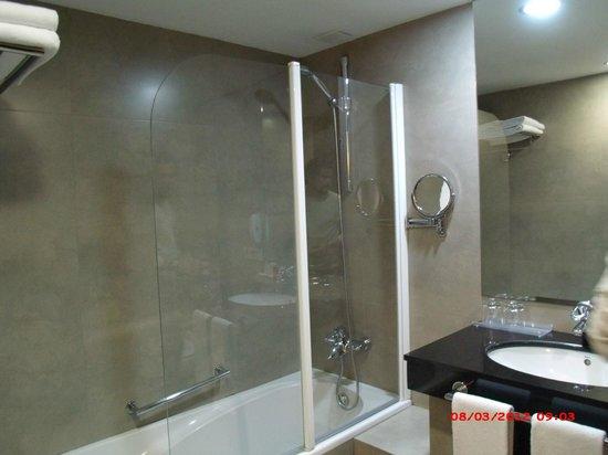 Hotel Molina Lario: Banheiro do apto