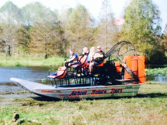 Alligator Cove Airboat Nature Tours: The Airboat and us!