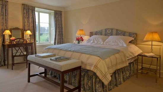 Bedroom recently refurbished in Boconnoc House