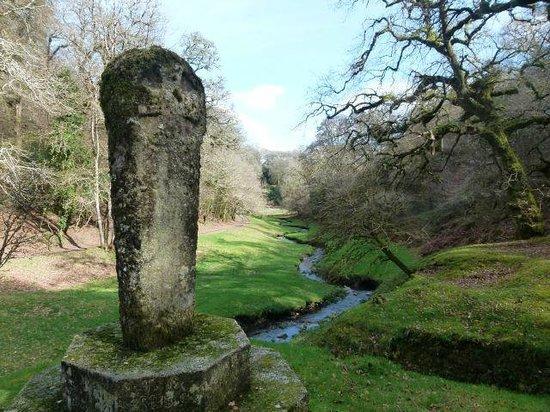 Boconnoc House: Celtic Cross looking down valley crucis