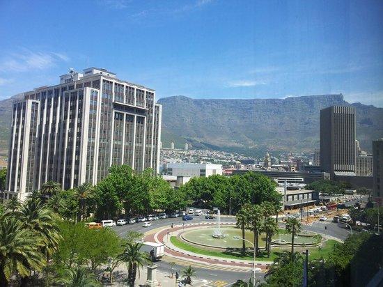 Park Inn by Radisson Cape Town Foreshore: Direkter Blick auf den Tafelberg