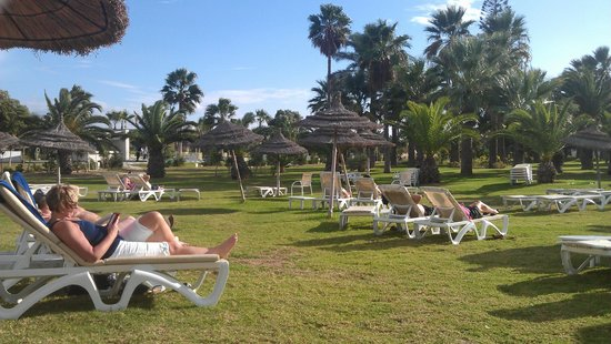 Iberostar Diar El Andalous: grassed area for catching those rays of sunshine