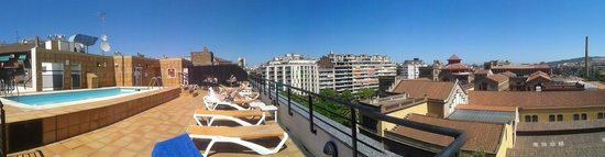 Sunotel Aston : panoramic view of rooftop terrace