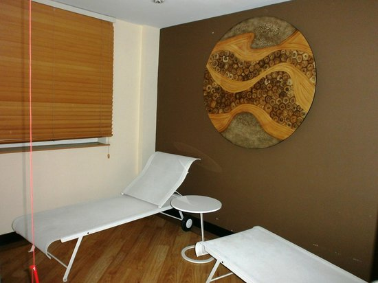 Novotel London Greenwich: Salle de relaxation à côté du hammam