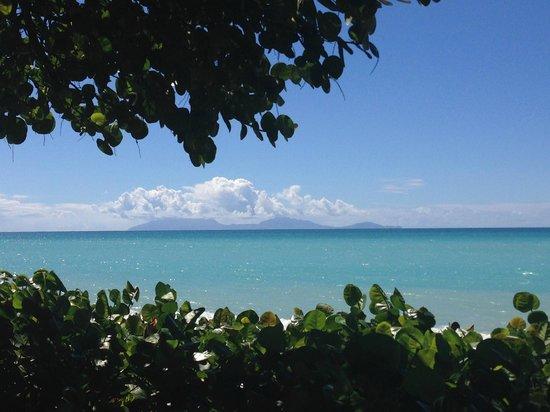 Keyonna Beach Resort Antigua: Montserrat Island in distance (view from resort)