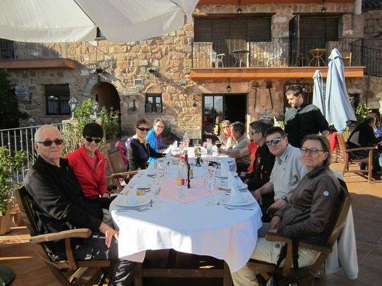 Hotel Palacio Guzmanes : Comida en la terraza