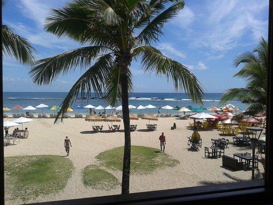 Brisa do Caita Praia Hotel: Vista desde el desayunador/comedor (excelente)